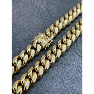 HarlemBling 18k Gold Over Stainless Chain Necklace